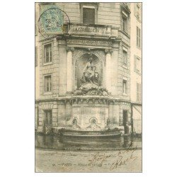 carte postale ancienne PARIS 05. Fontaine Cuvier 1906