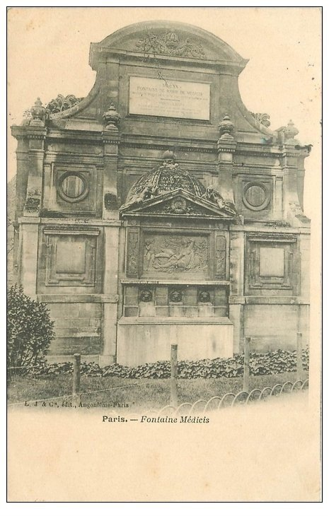 carte postale ancienne PARIS 05. Fontaine Médicis 1905