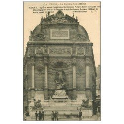 carte postale ancienne PARIS 05. Fontaine Saint-Michel 1927