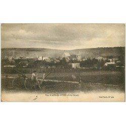carte postale ancienne 10 AIX-EN-OTHE. Enfant assis sur charrue et Village