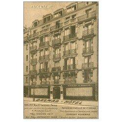 carte postale ancienne PARIS 05. Hôtel Dagmar rue Saint-Jacques