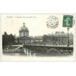 carte postale ancienne PARIS 05. Institut et Pont des Arts 1909