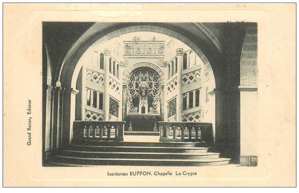 carte postale ancienne PARIS 05. Institution Buffon Chapelle Crypte 1918