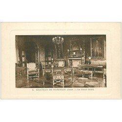 carte postale ancienne 02 CHATEAU DE MARCHAIS. Le Grand Salon