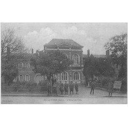 carte postale ancienne 10 AIX-EN-OTHE. Hôtel de Ville avec Militaires Soldats