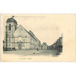 carte postale ancienne 10 AIX-EN-OTHE. L'Eglise. Carte pionnière vers 1900 vierge