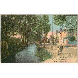 carte postale ancienne 10 AIX-EN-OTHE. L'Eglise. Rue de Tonnerre 1924