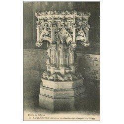 carte postale ancienne PARIS 05. Le Bénitier Saint-Séverin