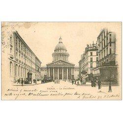 carte postale ancienne PARIS 05. Le Panthéon 1906