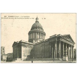 carte postale ancienne PARIS 05. Le Panthéon 1915