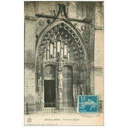 carte postale ancienne 10 ARCIS-SUR-AUBE. Portail de l'Eglise 1923