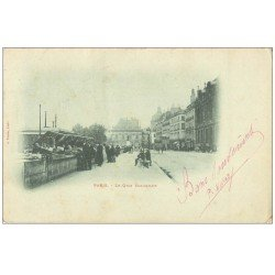 carte postale ancienne PARIS 06. Bouquinistes Quai Malaquais 1903