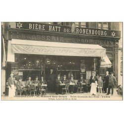 carte postale ancienne PARIS 06. Brasserie Lipp Boulevard Saint-Germain