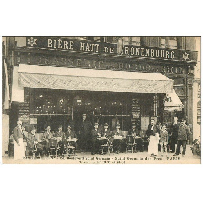 Paris 06 brasserie lipp boulevard saint germain for Carrelage du sud boulevard saint germain