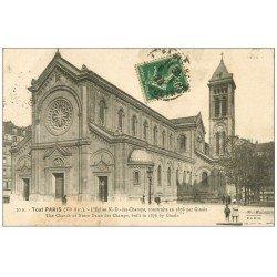 carte postale ancienne PARIS 06. Eglise Notre-Dame-des-Champs 1923