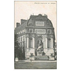 carte postale ancienne PARIS 06. Fontaine Saint-Michel