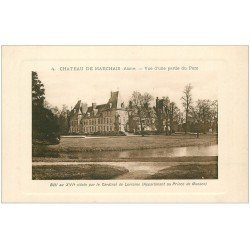 carte postale ancienne 02 CHATEAU DE MARCHAIS. Le Parc