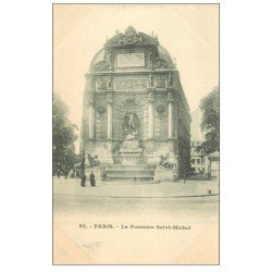 carte postale ancienne PARIS 06. Fontaine Saint-Michel 82 vers 1900