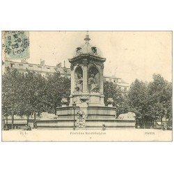 carte postale ancienne PARIS 06. Fontaine Saint-Sulpice 1905