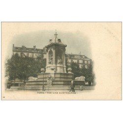 carte postale ancienne PARIS 06. Fontaine Saint-Sulpice 23 vers 1900