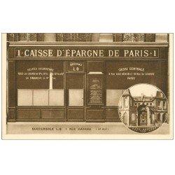carte postale ancienne PARIS 06. La Caisse d'Epargne 1 rue Madame