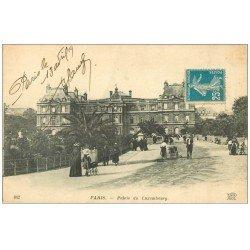 carte postale ancienne PARIS 06. Le Palais du Luxembourg 1919