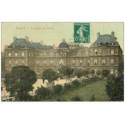 carte postale ancienne PARIS 06. Le Palais du Sénat. Carte toilée