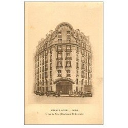 carte postale ancienne PARIS 06. Palace Hôtel 1 Rue du Four