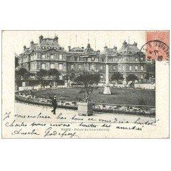 carte postale ancienne PARIS 06. Palais du Luxembourg 1905