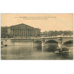 carte postale ancienne PARIS 07. Chambre des Députés et Pont Concorde
