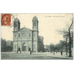 carte postale ancienne PARIS 07. Eglise Saint-François Xavier 1907