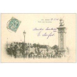 carte postale ancienne PARIS 07. Gare des Invalides 1904