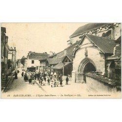 carte postale ancienne 10 BAR-SUR-AUBE. Eglise Saint-Pierre Basilique. Tampon du Vaguemestre