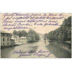 carte postale ancienne 10 BAR-SUR-AUBE. Emplacement des anciennes Tanneries 1907 (défauts)...