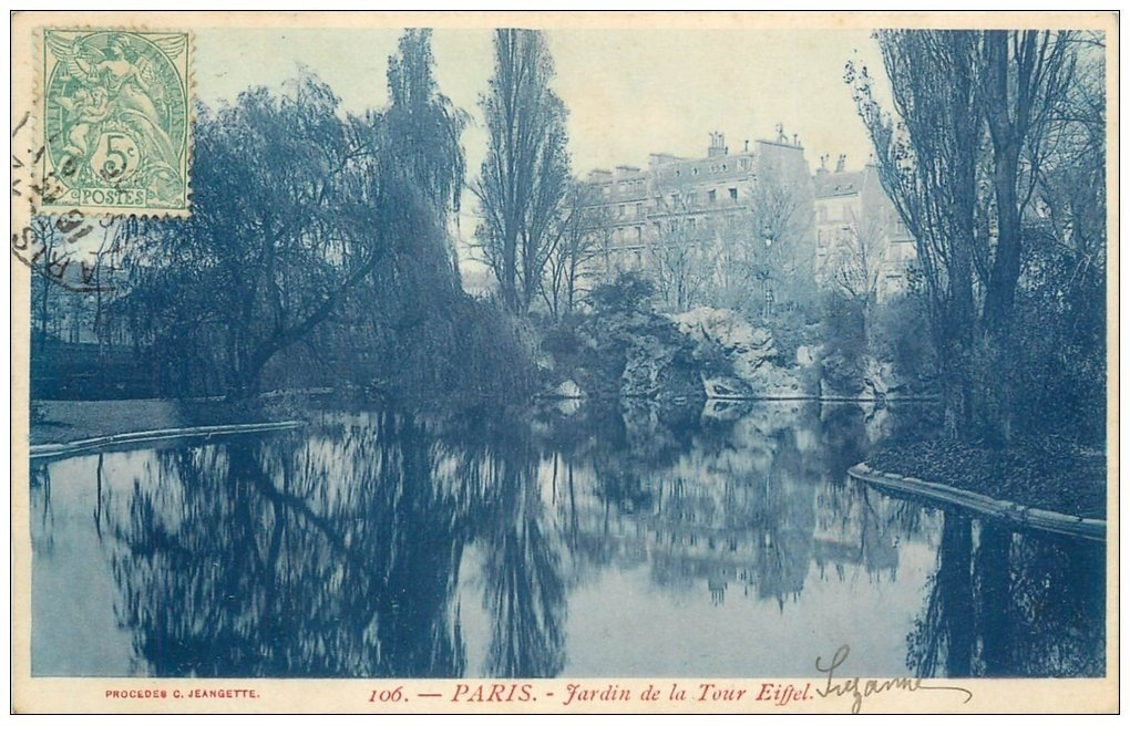 PARIS 07. Jardin Tour Eiffel 1907