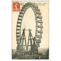 carte postale ancienne PARIS 07. La Grande Roue et Cabines
