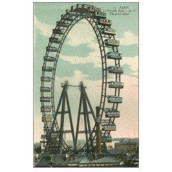 carte postale ancienne PARIS 07. La Grande Roue et Cabines 11