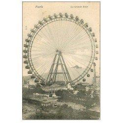 carte postale ancienne PARIS 07. La Grande Roue et Cheminée