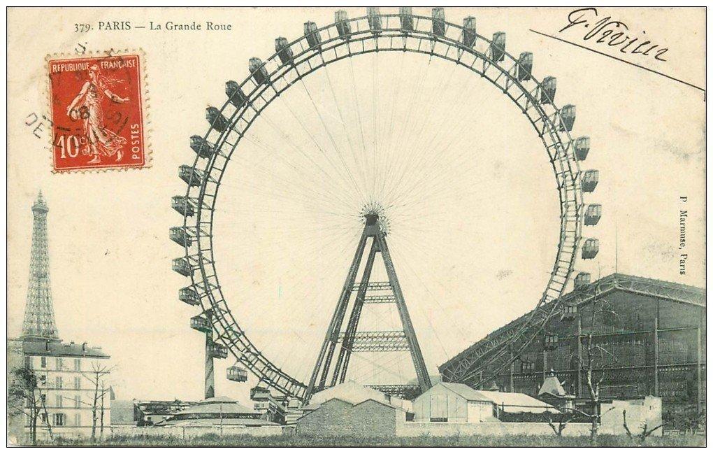 PARIS 07. La Grande Roue et Tour Eiffel 1908
