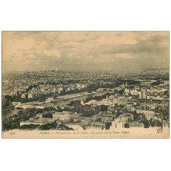 carte postale ancienne PARIS 07. La Seine vue de la Tour Eiffel