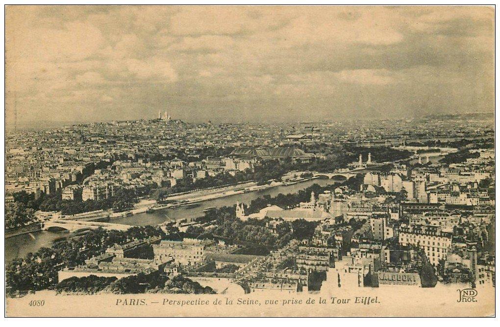 PARIS 07. La Seine vue de la Tour Eiffel