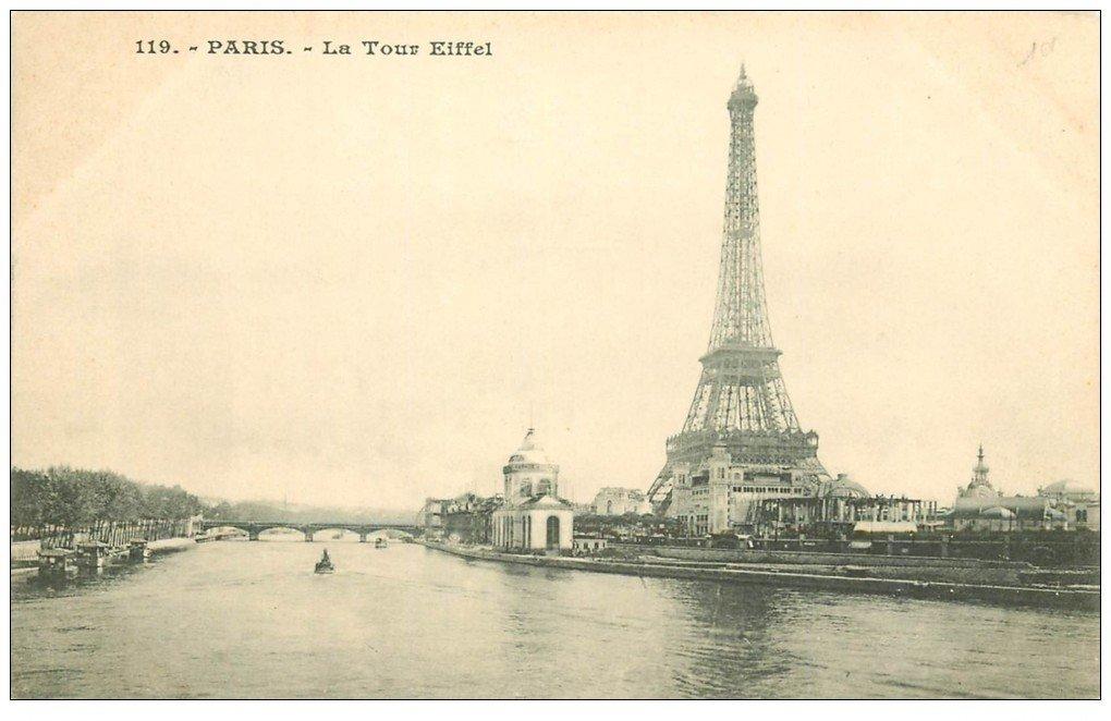 carte postale ancienne PARIS 07. La Tour Eiffel 119