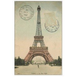 carte postale ancienne PARIS 07. La Tour Eiffel 1907