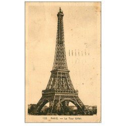 carte postale ancienne PARIS 07. La Tour Eiffel 1938