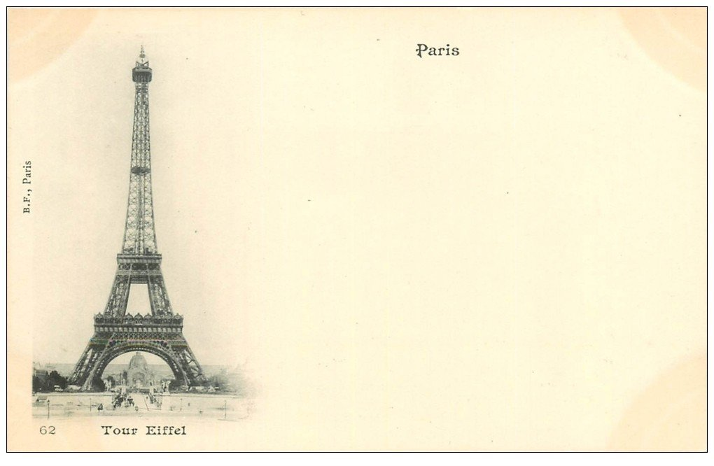 carte postale ancienne PARIS 07. La Tour Eiffel 62