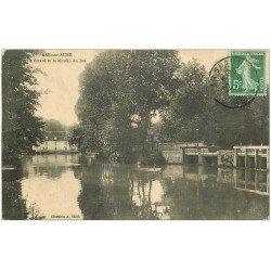 carte postale ancienne 10 BAR-SUR-AUBE. Le Bâtard et le Moulin du Bas 1915