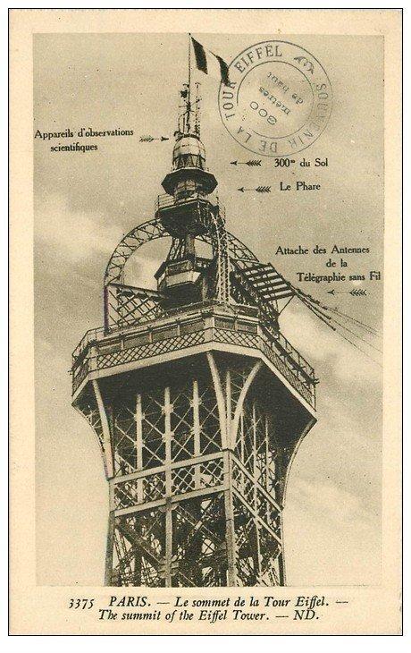 PARIS 07. Le sommet Tour Eiffel