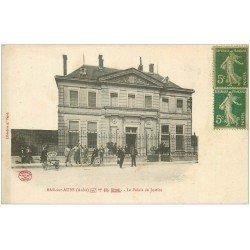 carte postale ancienne 10 BAR-SUR-AUBE. Le Palais de Justice