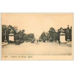 carte postale ancienne PARIS 08. Avenue des Champs-Elysées Autobus