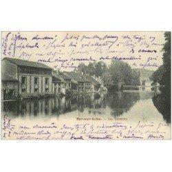 carte postale ancienne 10 BAR-SUR-AUBE. Les Tanneries 1903